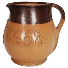 Antique Royal Doulton Jug Salisbury Gill Jack Pitcher 17th c Model Stoneware Pottery