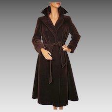 Vintage 1970s Unused Brown Velvet Coat  -  Lou Ritchie - Sport Togs - Canada - Size M 10