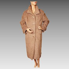 Vintage 1970s Pure English Mohair Ladies Coat Size Large XL
