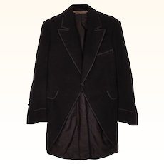 Antique Mens Morning Coat Paris Tailor Cutaway Frock Coat Size Small