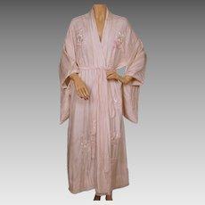 cfd2b5fe2b Japanese Black Silk Kimono with Kanagawa Wave 1947-1955   Travelers ...