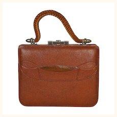 Antique Purse Victorian Era Leather Handbag 1890s Pocketbook