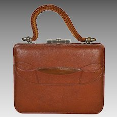 80b41764e295 VIntage Large Colombetti Python Handbag   M M Goomis Antiques