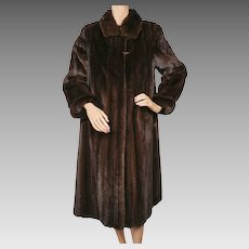 Vintage Female Mink Coat - Mahogany Color - Size S - Alexandor Furs Montreal