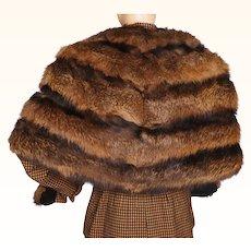 Vintage 1940s Large Fox Fur Stole - Red Color - Dupont Furs Cairo