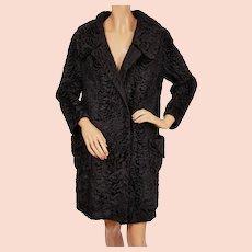 Opulent Edwardian Sable Trimmed Vintage Winter Coat The