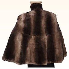 Vintage 1940s Fur Cape - Sheared Beaver - Size M