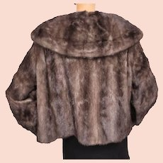 1960s Brown Mink Jacket -  Large Shawl Collar - M