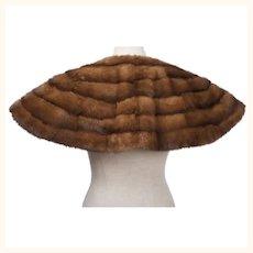 Vintage 1930s Kolinsky Fur Capelet Collar