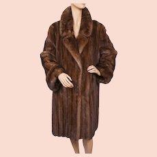 Vintage 1990s Mink Coat Female Pelts Grosvenor Furs Canada Size L