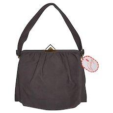 1940s Garay NWT Cloth Handbag Purse - Unused - With orginal tag