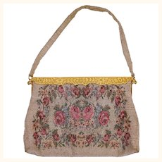 1950s Beaded Handbag Purse - Made in France - Spritzer & Fuhrmann
