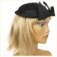 Vintage 1950s Cocktail Hat Cele Logan New York Holt Renfrew Size M