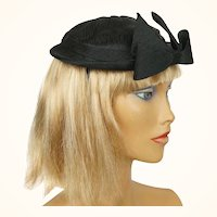 Vintage 1950s Cocktail Hat Cele Logan New York Holt Renfrew Size M