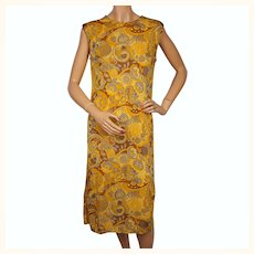 Vintage 1960s Silk Knit Dress by Luisa Spagnoli Perugia Italy Size M L
