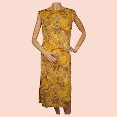 Vintage 1960s Silk Knit Dress by Luisa Spagnoli Perugia Italy Size M L