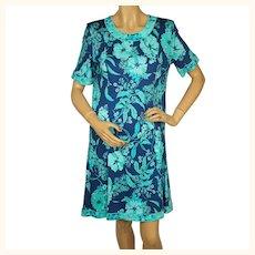 Vintage 1980s Averardo Bessi Dress Floral Print Cotton Italy Size 4
