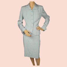 Vintage 1950s Skirt Suit Miss Style New York Montreal Size M