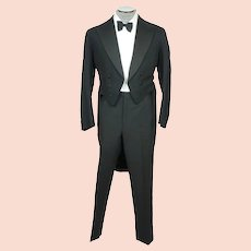 Vintage 1930s Tuxedo Tailcoat Formal Tails Timewell & Hooper Dated 1933 Size M