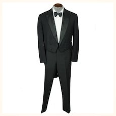 Antique 1910s Tuxedo Tailcoat Formal Tails Semi Ready Montreal Size M