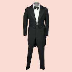 Vintage 1920s Tuxedo Tailcoat Formal Tails Fashion Craft Montreal Size S M