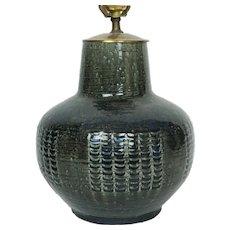 Danish Mid Century Modern Pottery Lamp Palshus Denmark Per Linnemann Schmidt
