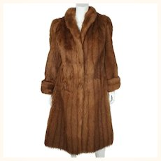 Glamorous 1950s Sheepskin Coat Tescan Admoir Fur Stephen Adler London Ladies M