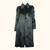 Vintage 1960s Jean Patou Boutique Paris Black Velvet Coat France Ladies Size M