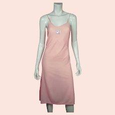 Vintage 1930s Unused Slip Pink Rayon Lingerie with Original Label La Deesse S 32