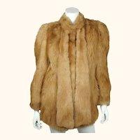 Vintage 1970s Sheepskin Fur Jacket Coat Miss Renfrew Canada Ladies Size M