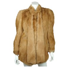 Vintage 1970s Sheepskin Fur Jacket Coat Miss Renfrew Canada Ladies Size M