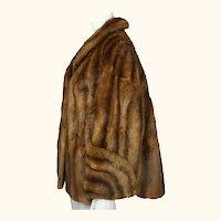 Vintage 1940s 50s Swing Jacket Muskrat Fur Ladies Size M L