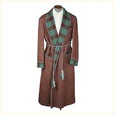 Vintage 1930s Mens Dressing Gown Les Grands Magasins Hannaux Alexandria Egypt Size L
