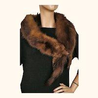 Vintage 1930s Mink Fur Stole Shoulder Shrug - J Walsh - Montreal