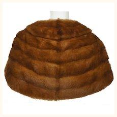 Vintage 1950s Brown Mink Fur Stole Shrug Cummings Montreal