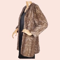 Vintage Mink Paw Fur Coat  - Ladies Size Medium