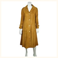 Vintage 1970s Suede Coat John Warden for Baron Leather Ladies Size 11