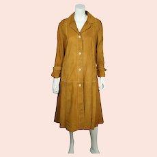 Vintage 1970s Suede Coat John Warden for Baron Leather Ladies Size 11