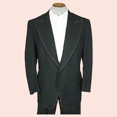 Vintage 1920s Mens Tuxedo Jacket Frock Coat Linett Formal Clothing NY Size Large