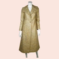 Vintage 60s Beverly Hills Coat Designer Ilus Geiger Ladies S