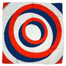 Vintage Pierre Cardin Jeunesse Silk Scarf Square 60s Op Art
