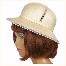 Vintage Christian Dior Hat Straw Safari Style Spring 1974 S M