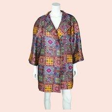 Vintage Christian Lacroix Coat Metallic Multicolour 1991 M
