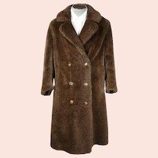 Vintage 1920s Motoluxe Alpaca Teddy Bear Coat Overcoat Sz M