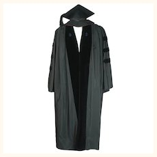 1923 Vintage Harvard Doctoral Gown Doctorate Graduation Robe