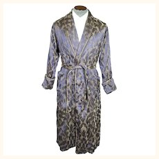Vintage Mens Dressing Gown Lounging Robe 1910s 1920s Size M