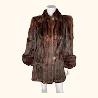 Vintage 1940s Swing Jacket Squirrel Fur Ladies Size M