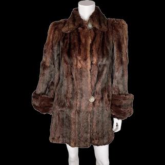 Vintage 1940s Swing Jacket Squirrel Fur Ladies Size M