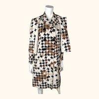Vintage 60s Federico Forquet Dress w Jacket Italian Couture