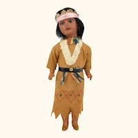 Vintage Native American Indian Doll Bisque Head Armand Marseilles 8/0